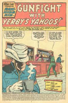 Extrait de Rawhide Kid Vol.1 (Atlas/Marvel - 1955) -124- The Gunfight with Yerby's Yahoos!
