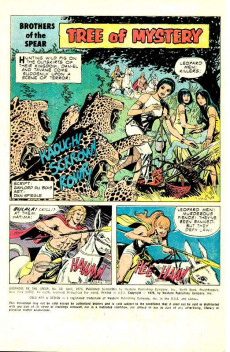 Extrait de Brothers of the Spear (Gold Key - 1972) -13- Tree of Mystery!