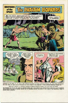 Extrait de Brothers of the Spear (Gold Key - 1972) -15- The Phantom Leopards