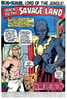 Extrait de Astonishing tales Vol.1 (Marvel - 1970) -3- The Secret of the Faceless One! / Ka-Zar Finds... War in the Savage Land!