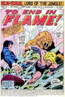 Extrait de Astonishing tales Vol.1 (Marvel - 1970) -10- To Die In Flames!