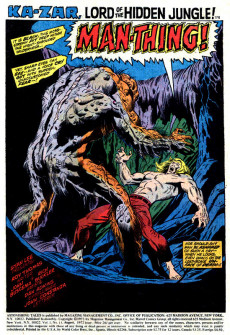 Extrait de Astonishing tales Vol.1 (Marvel - 1970) -13- The Mark of the Man-Thing!