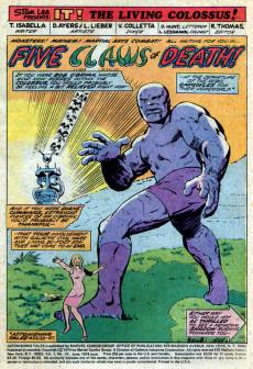 Extrait de Astonishing tales Vol.1 (Marvel - 1970) -24- It! : Five Claws of Death!