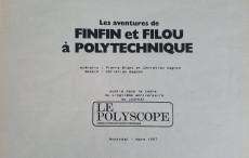 Extrait de Tintin - Pastiches, parodies & pirates - Les Aventures de Finfin et Filou à Polytechnique