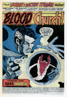 Extrait de Marvel Team-Up Vol.1 (Marvel comics - 1972) -35- Blood Church!