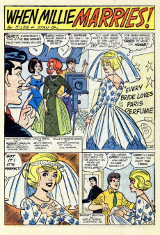 Extrait de Modeling with Millie (Marvel Comics - 1963) -22- Marriage for Millie?