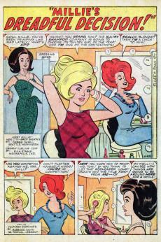 Extrait de Modeling with Millie (Marvel Comics - 1963) -25- Millie's Dreadful Decision!