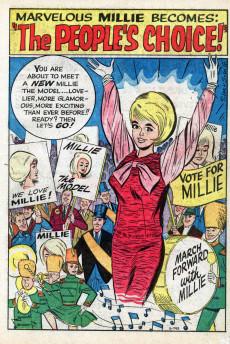 Extrait de Modeling with Millie (Marvel Comics - 1963) -32- Millie, the People's Choice!