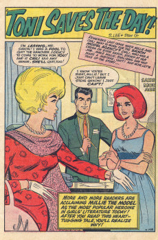 Extrait de Modeling with Millie (Marvel Comics - 1963) -34- Toni Saves the Day!