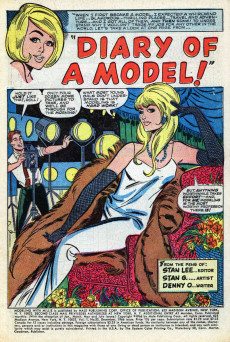 Extrait de Modeling with Millie (Marvel Comics - 1963) -52- Diary of a Model!
