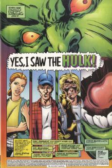 Extrait de Hulk Vol.1 (Marvel comics - 1999) -5- Yes, I Saw the Hulk!