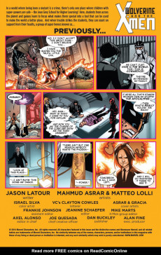 Extrait de Wolverine and the X-Men Vol.2 (Marvel comics - 2014) -5- Tomorrow Never Learn, Chapter 5: Chekhov's Gun