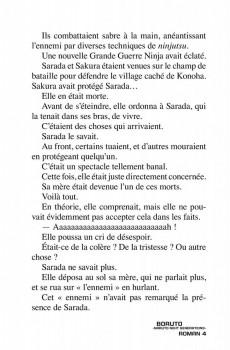 Extrait de Boruto - Naruto Next Generations -Roman04- Tome 4