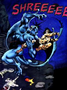 Extrait de Marvel Graphic Novel (Marvel comics - 1982) -59- Conan the Barbarian: The Horn of Azoth