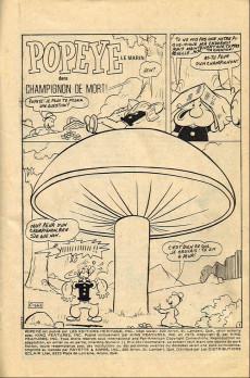 Extrait de Popeye le marin (Éditions Héritage) -11- Champignon de mort !