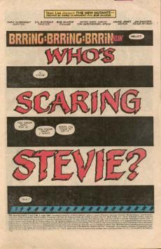 Extrait de New Mutants (The) (1983) -4- Who's Scaring Stevie?