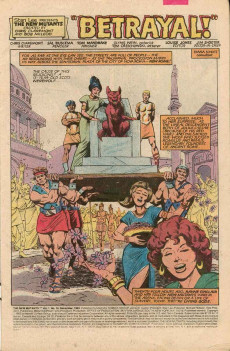 Extrait de New Mutants (The) (1983) -10- Betrayal!