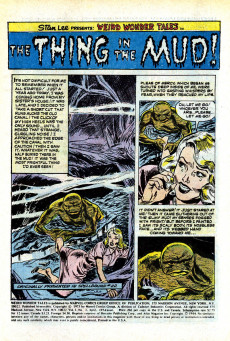 Extrait de Weird Wonder Tales (Marvel Comics - 1973) -3- The Thing in the Bog!
