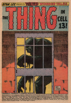 Extrait de Weird Wonder Tales (Marvel Comics - 1973) -5- The Thing in Cell 13!