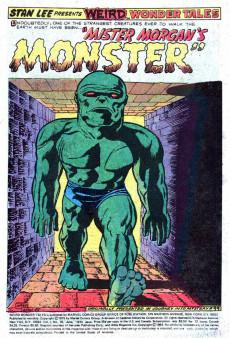 Extrait de Weird Wonder Tales (Marvel Comics - 1973) -10- Mister Morgan's Monster!
