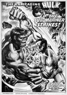 Extrait de Rampaging Hulk Vol.1 (The) (Marvel Comics - 1977) -5- Lo! The Sub-Mariner Strikes!