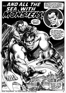 Extrait de Rampaging Hulk Vol.1 (The) (Marvel Comics - 1977) -6- Duel in the Dark Depths!