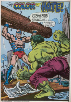 Extrait de Hulk (The) (Marvel Comics - 1978) -12- The Color of Hate