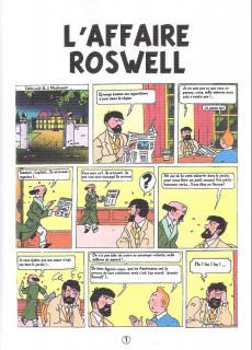Extrait de Tintin - Pastiches, parodies & pirates -a2020- L'affaire roswell