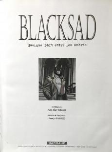 Extrait de Blacksad -1a2002- Quelque part entre les ombres