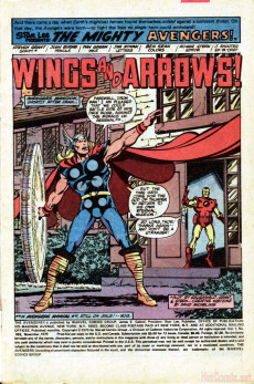 Extrait de Avengers Vol. 1 (Marvel Comics - 1963) -189- Wings and Arrows!
