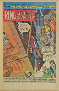 Extrait de Spectacular Spider-Man (The) (1976) -58- Ring out the old in the new