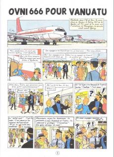 Extrait de Tintin - Pastiches, parodies & pirates -a2020- Ovni 666 pour vanuatu