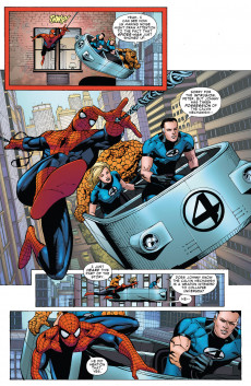 Extrait de Amazing Spider-Man (The) Vol.2 (Marvel comics - 1999) -7005- Spider-man & Human torch save the universe