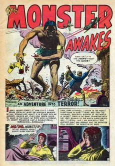 Extrait de Adventures into Terror Vol.1 (Atlas - 1950) -143- The Thing in the Cave!