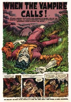 Extrait de Adventures into Terror Vol.2 (Atlas - 1951) -10- When the Vampire Calls!