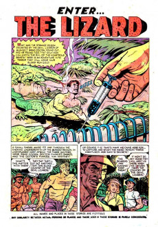Extrait de Adventures into Terror Vol.2 (Atlas - 1951) -8- Enter... the Lizard!