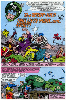 Extrait de What the..?! (Marvel comics - 1988) -23- In This Issue We Really Drop Kick Superb-Pro!