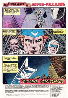 Extrait de Secret Society of Super-Villains (The) (DC comics - 1976) -6- Captains Cataclysmic!