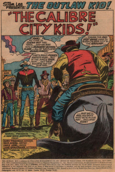 Extrait de The outlaw Kid Vol.2 (Marvel - 1970) -14- The Kid Gunslingers of Calibre City!