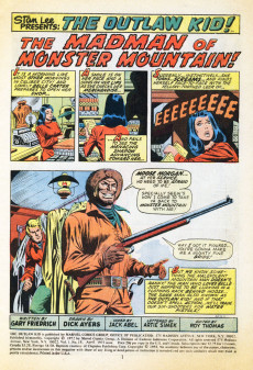 Extrait de The outlaw Kid Vol.2 (Marvel - 1970) -15- The Madman of Monster Mountain