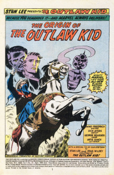 Extrait de The outlaw Kid Vol.2 (Marvel - 1970) -27- The Origin of the Outlaw Kid!