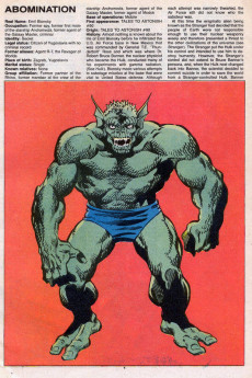 Extrait de Official handbook of the Marvel Universe Vol.2 - Deluxe Edition (1985) -1- Abomination To Batroc's Brigade