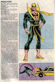 Extrait de Official Handbook of the Marvel Universe Vol.3 - Update'89 (1989) -4- Human Torch To Mannikin