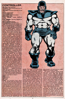 Extrait de Official handbook of the Marvel Universe Vol.1 (1983) -3- C-D: From The Collector to Dracula