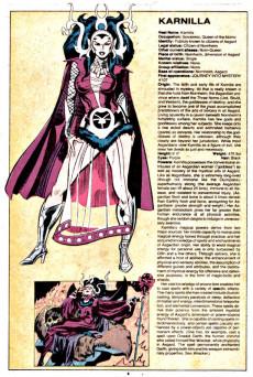 Extrait de Official handbook of the Marvel Universe Vol.1 (1983) -6- K-M: From Kang To Man-Bull