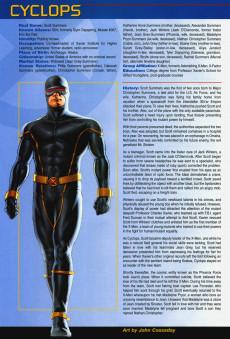 Extrait de Official Handbook of the Marvel Universe Vol.4 (Marvel comics - 2004) -1- X-Men 2004