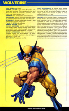 Extrait de Official Handbook of the Marvel Universe Vol.4 (Marvel comics - 2004) -6- Wolverine 2004