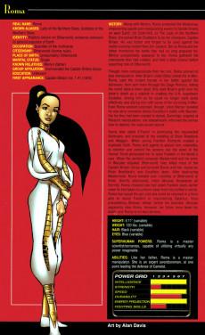 Extrait de Official Handbook of the Marvel Universe Vol.4 (Marvel comics - 2004) -9- Women of Marvel 2005