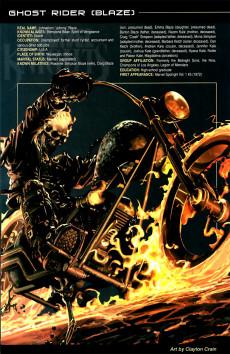 Extrait de Official Handbook of the Marvel Universe Vol.4 (Marvel comics - 2004) -10- Marvel Knights 2005