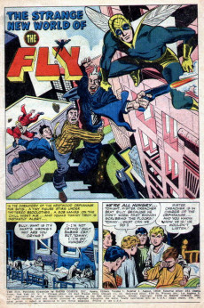 Extrait de Adventures of the Fly (Archie comics - 1960) -1- The Fly Battles Spider Spry!